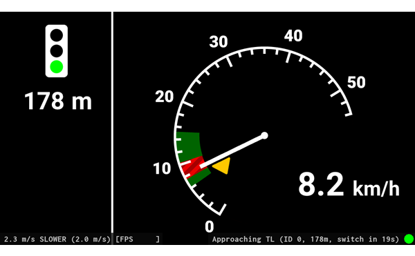 View mode of the 3. iteration: Lower the speed!