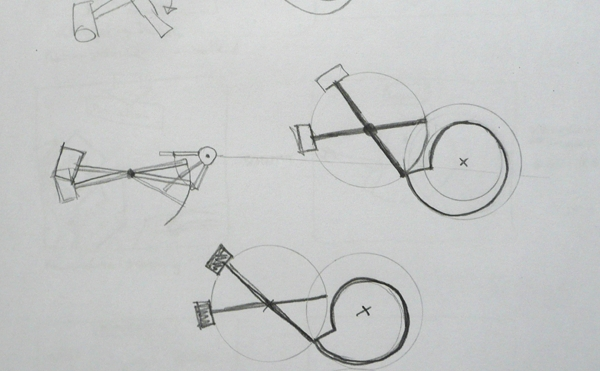 Working sketches of the hammer mechanism